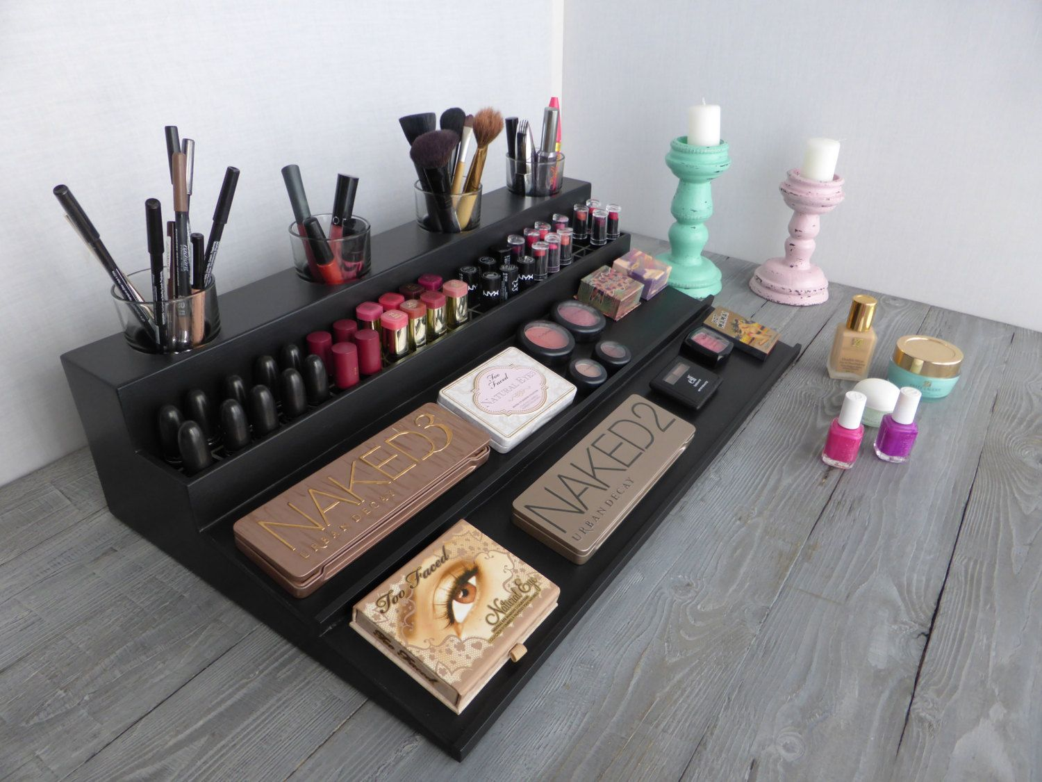 Bathroom Makeup Organizers makeup organizer - magnetic display - beauty station in many