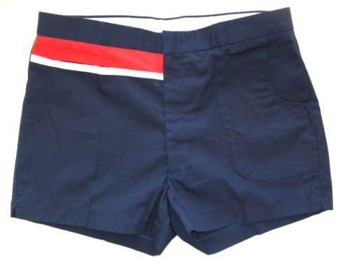 Vintage Mens Tennis Shorts Slazenger Navy Blue 70 S Tennis Shorts Mens Tennis Mens Swimwear