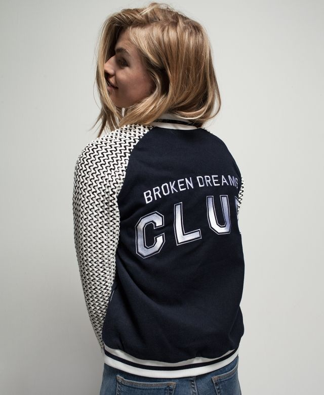 BROKEN DREAMS CLUB RAGLAN BOMBER JACKET | Zoe Karssen