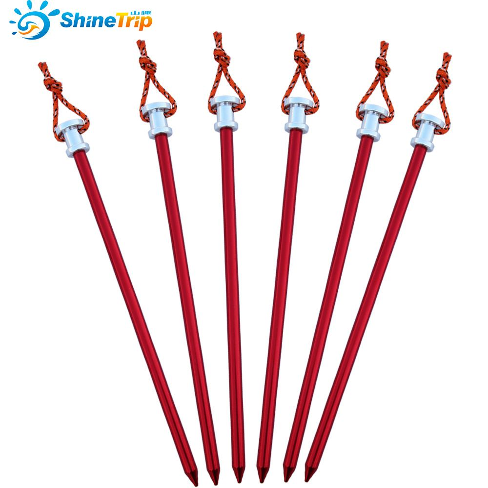 6Pcs/Lot Tent Peg Stake Aluminium Alloy Nails With Rope For Large Tent C&ing Equipment  sc 1 st  Pinterest & 6Pcs/Lot Tent Peg Stake Aluminium Alloy Nails With Rope For Large ...