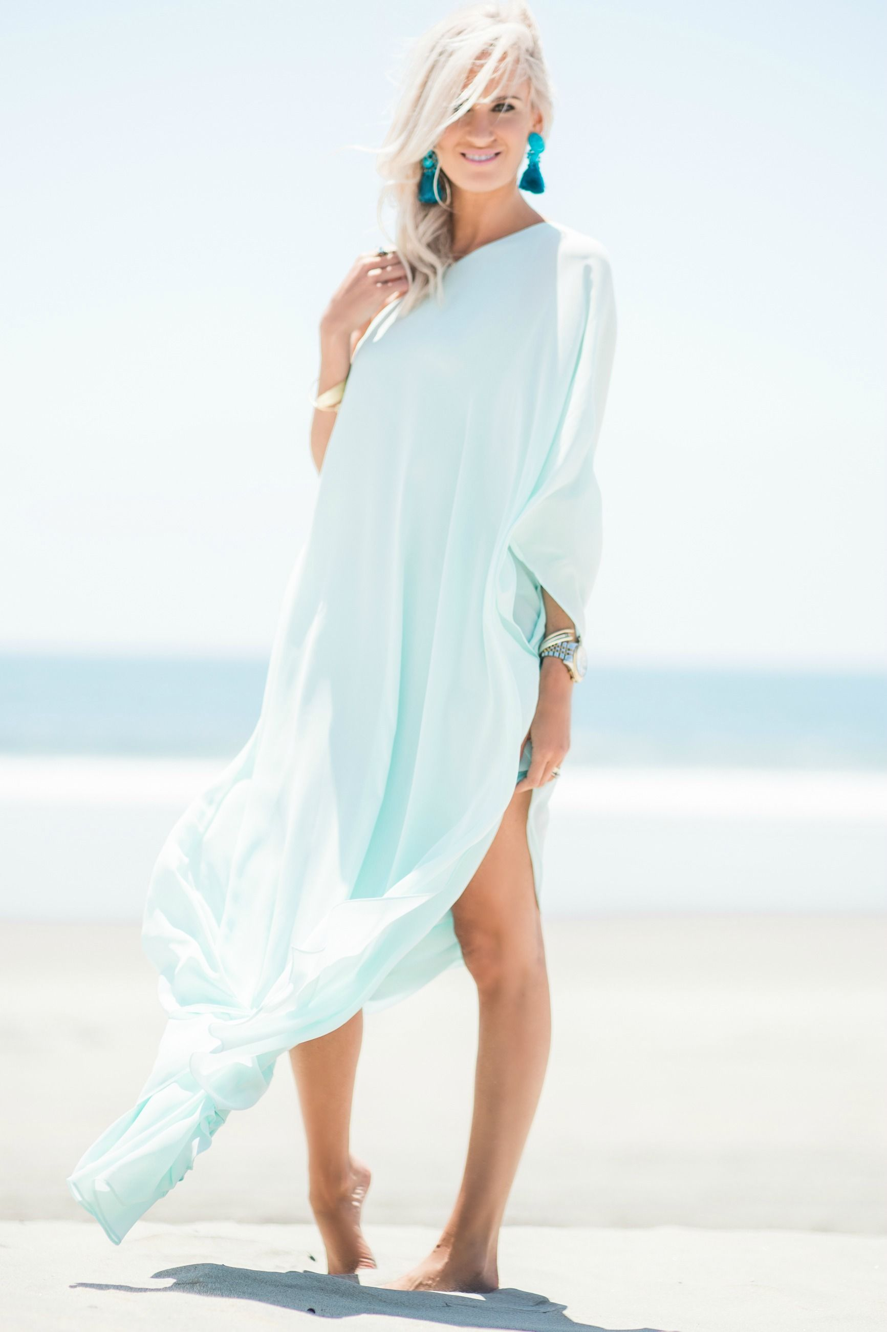 34963e707ff Light Blue Beach Maxi Dress - Mckenna Bleu