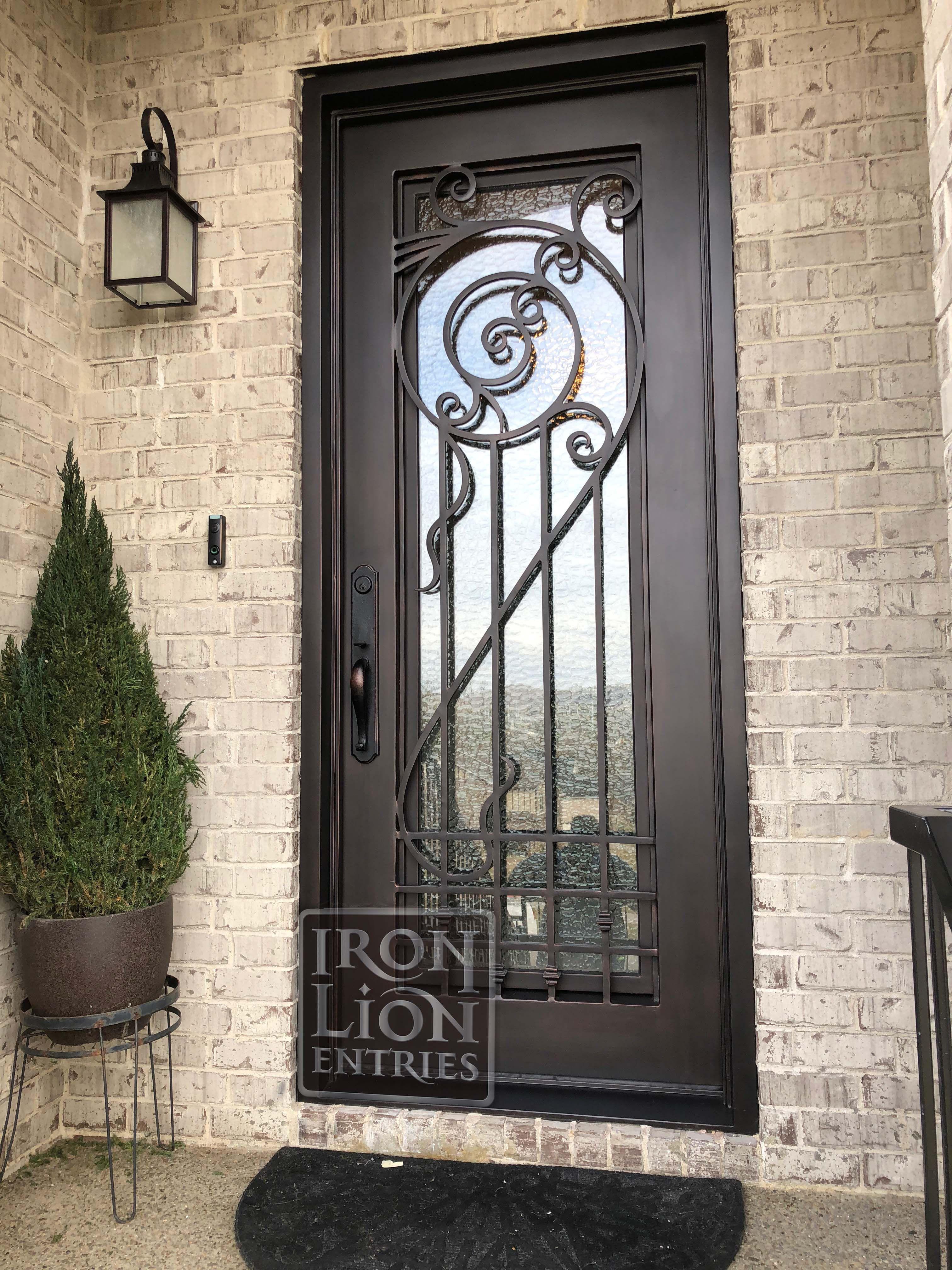 Iron Lion Entries Custom Iron Door What A Unique Design Drawn