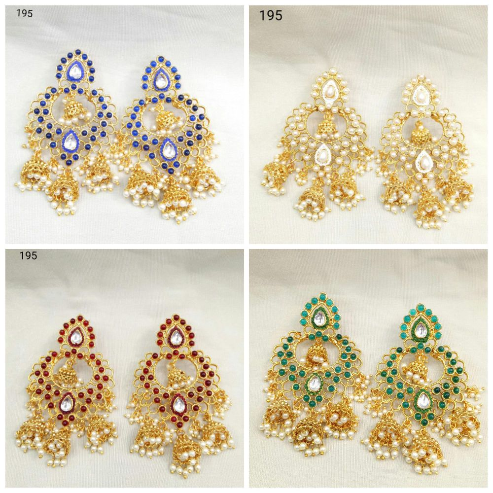 Indian Ethnic Bollywood Bridal Stunning CZ Party Wear Fashion Jewelry Earrings
