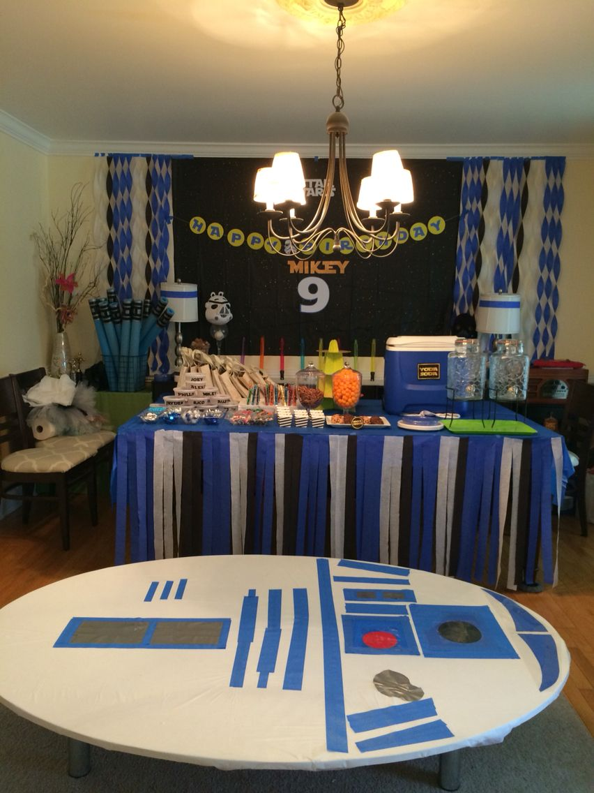R2D2 table Star Wars party Birthday party Birthday