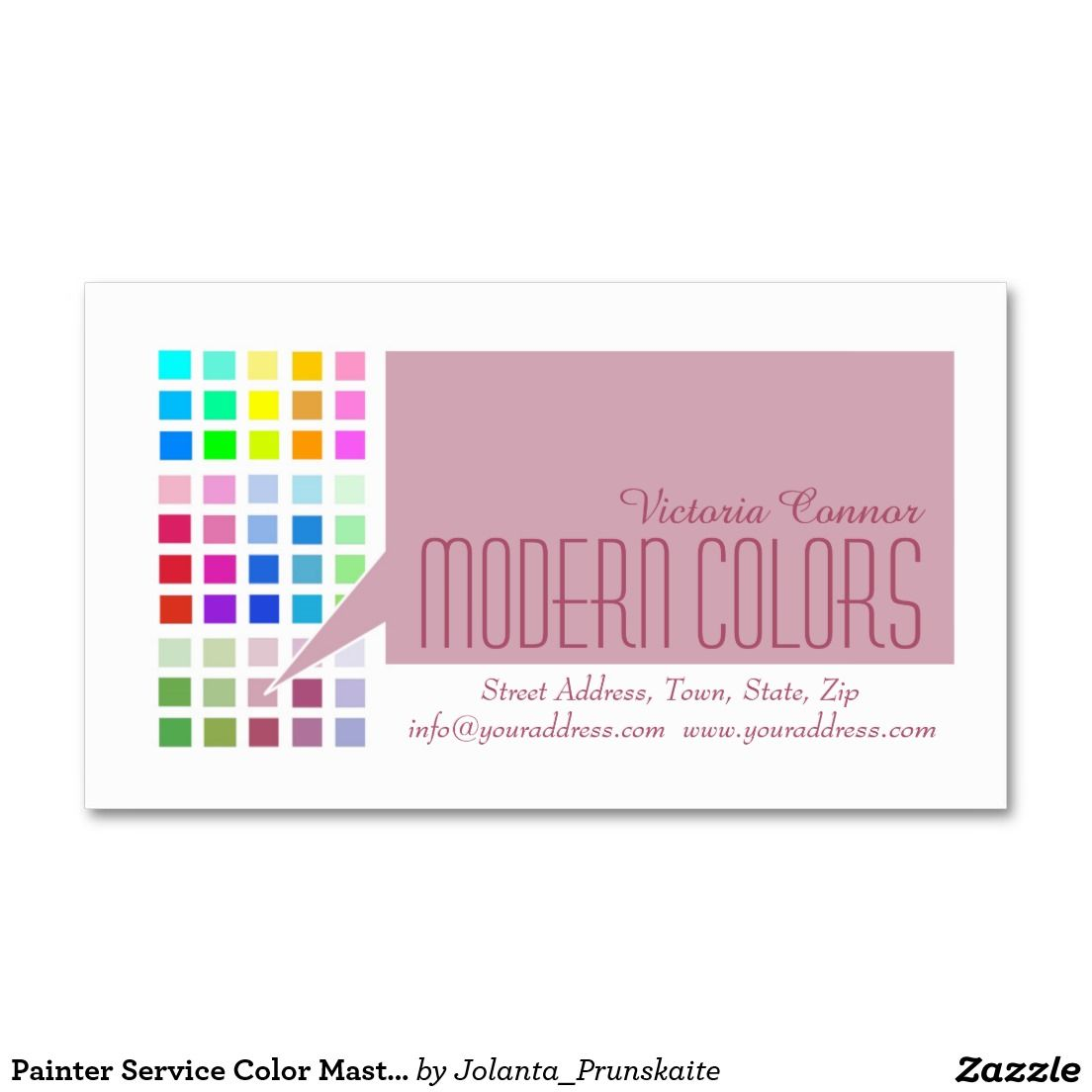 Painter Service Color Master Business Card   Business cards and Business