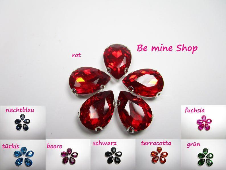 11 Stück Kristall Acryl Blumen Knöpfe 12mm x 12mm zwei Löcher Knopf Blume #