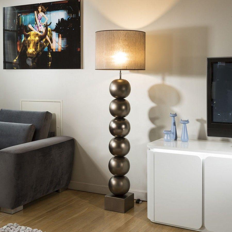 Envy Lighting Modern Designer Floor Lamp And Shade Bilba Bronze