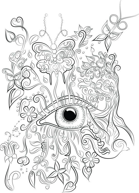 40 adult colouring pages to download, print and color