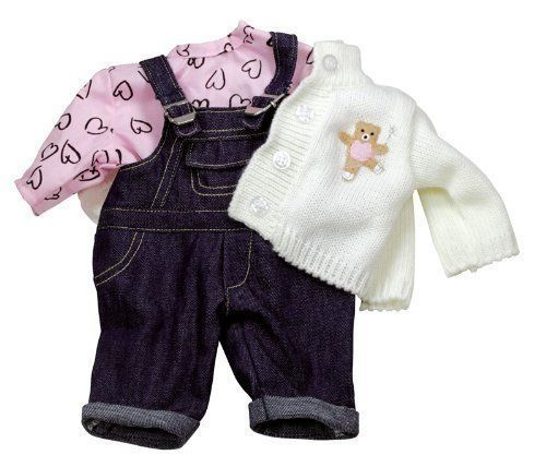 GOTZ Doll Clothes DENIM DUNGAREE SET for 16.5-18  Baby Doll NEW