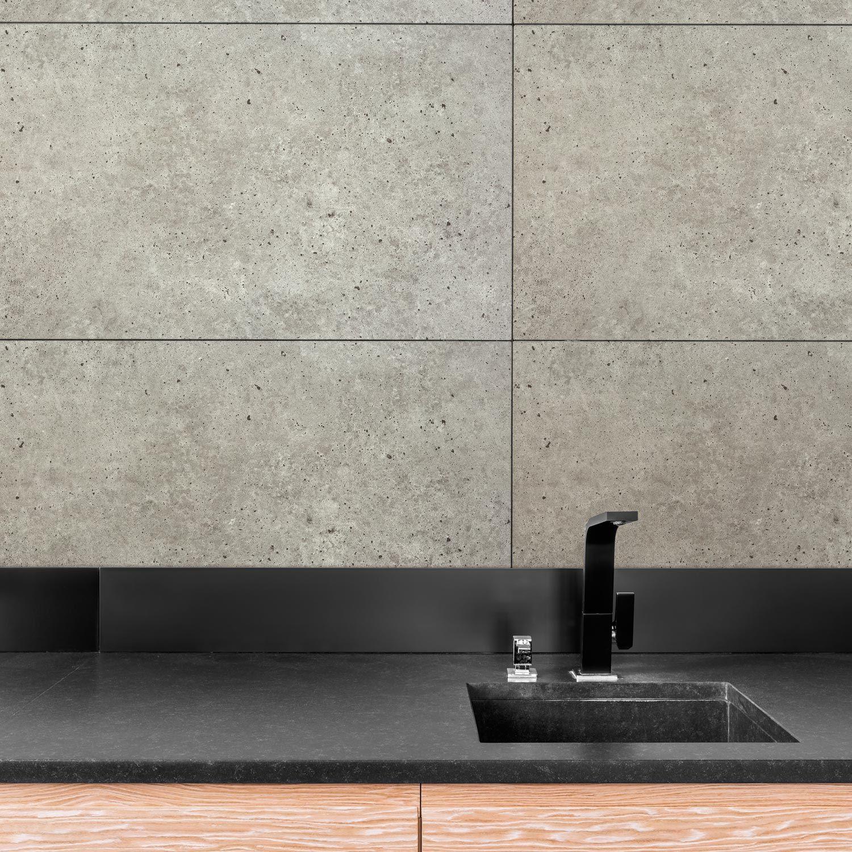 Dumawall Salle De Bain dalle pvc toronto grise mat dumaplast, l.70 x l.42 cm, ep