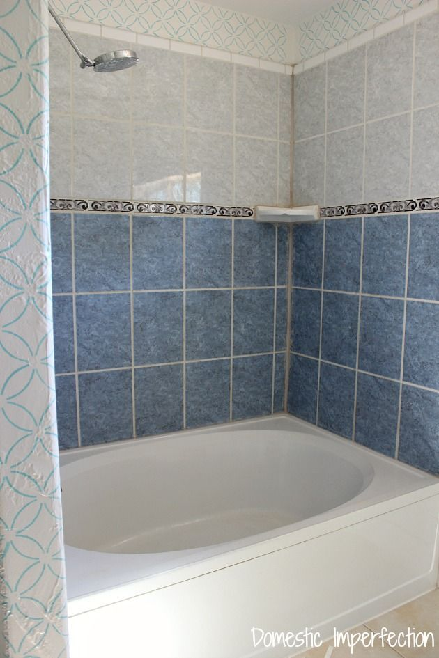 How to Refinish Outdated Tile (yes, I painted my shower) (Domestic ...