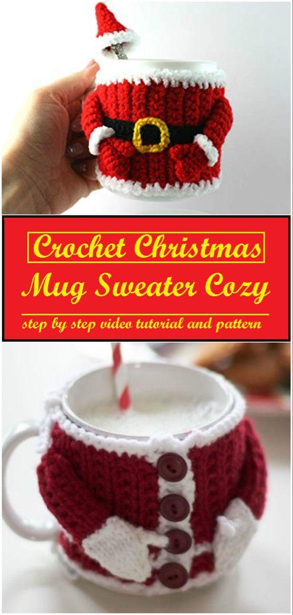 Photo of Crochet Christmas Sweater Mug Cozy