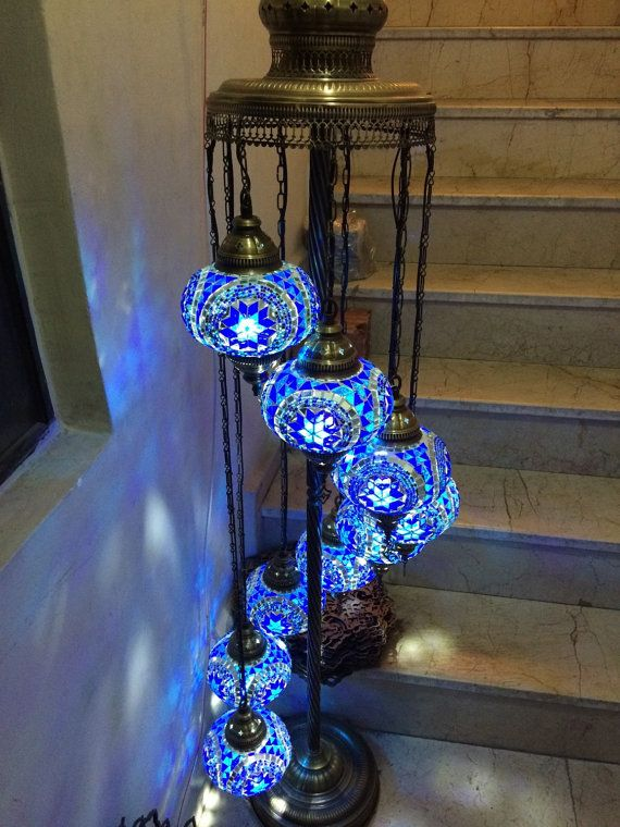 9 Multicolor Standing Lamp Arabian Mosaic Lamps Moroccan Lantern Chandelier Turkish Light Hanging Lamp Mosa Turkish Lights Mosaic Lamp Turkish Mosaic Lamp