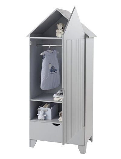 Armoire 1 porte Holidays - blanc | Plage chambre, Armoire cabine ...