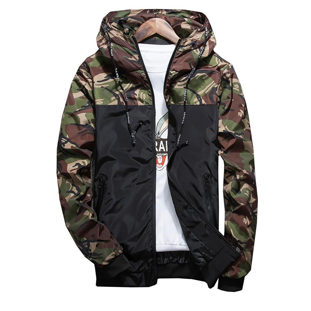 Giraffita New Military Style Jacket Men Camouflage Patchwork Long Sleeve Jacket Streetwear Classic Plus Size Mens Hoodies Casual Mens Jackets Hoodie Jacket Men [ 1001 x 1001 Pixel ]