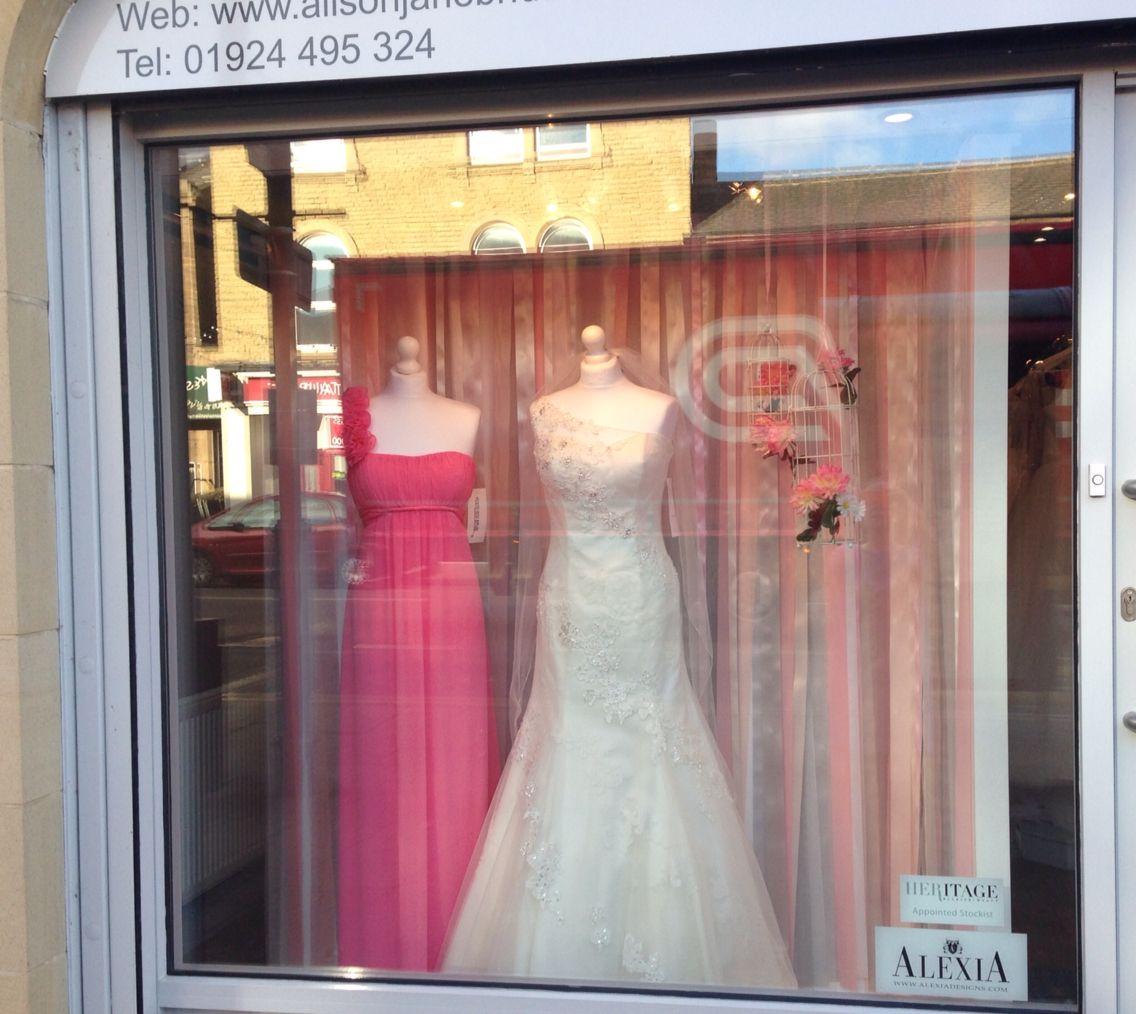 Alison Jane Bridal Mirfield West Yorkshire. Ribbon window Bridalshop ...