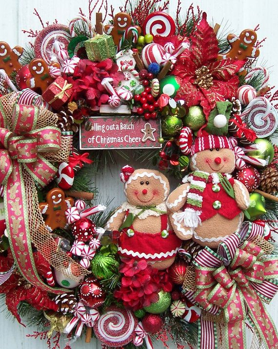 The Bakers of Gingerbread Christmas Holiday Wreath $159