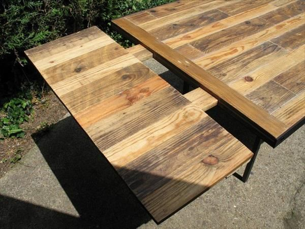 Perfect DIY Industrial Pallet Dining Table | 99 Pallets