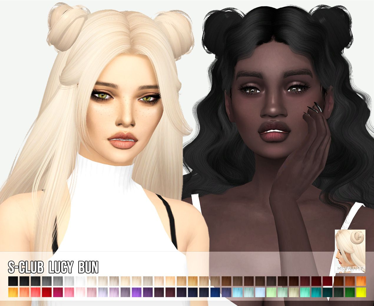 Miss Paraply S Clubs Lucy Bun Hair Retextured Do