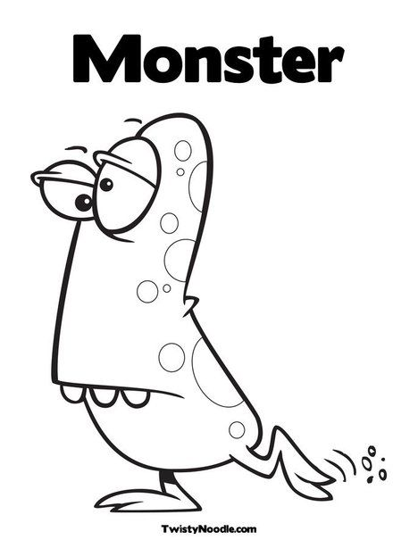 monster outline coloring pages - photo#12
