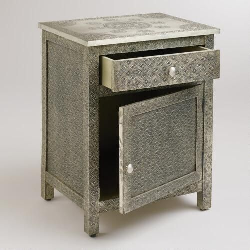 Kiran Embossed Metal Cabinet | Small cabinet, Telephone table and ...