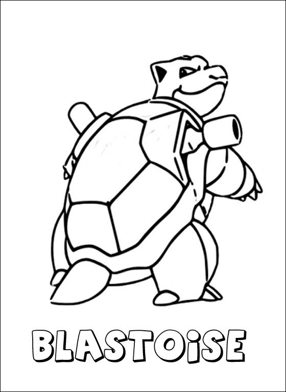Blastoise Coloring Pages
