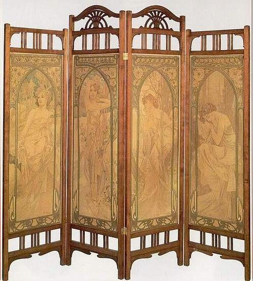 amazing mucha paravent jv chairs and sofas and pinterest screens art deco and. Black Bedroom Furniture Sets. Home Design Ideas