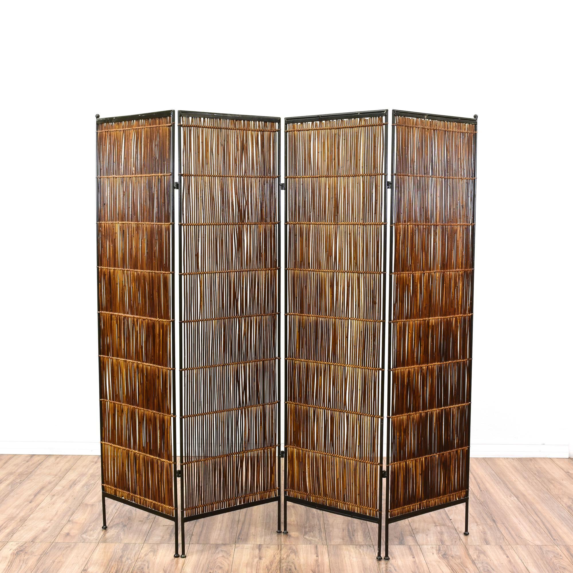 Tropical bamboo folding room diving screen bamboo screening