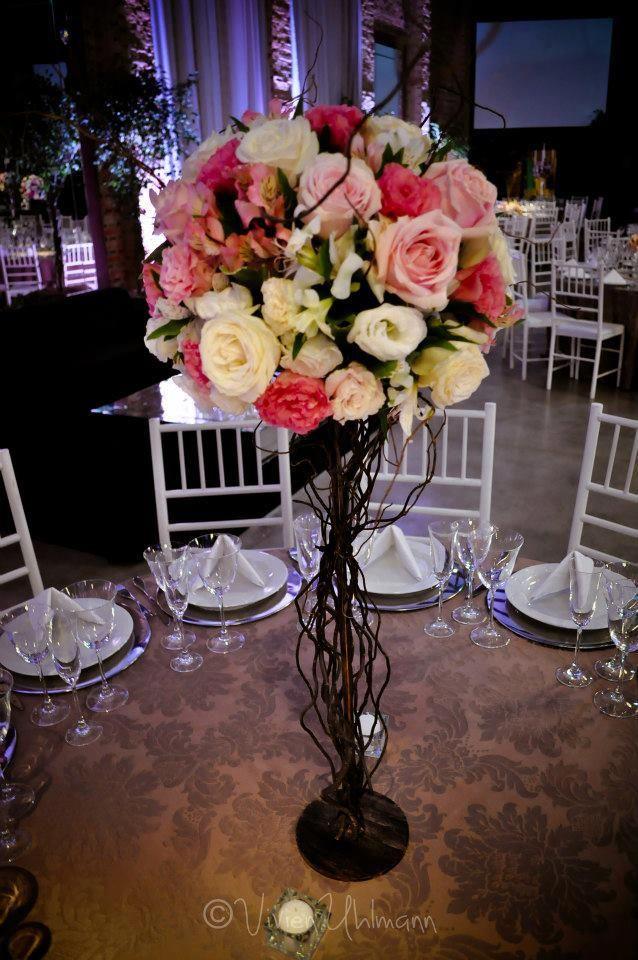 Centro de mesa alto atelier 16 cores fofas eu vejo - Centros de mesa para quinceaneras ...