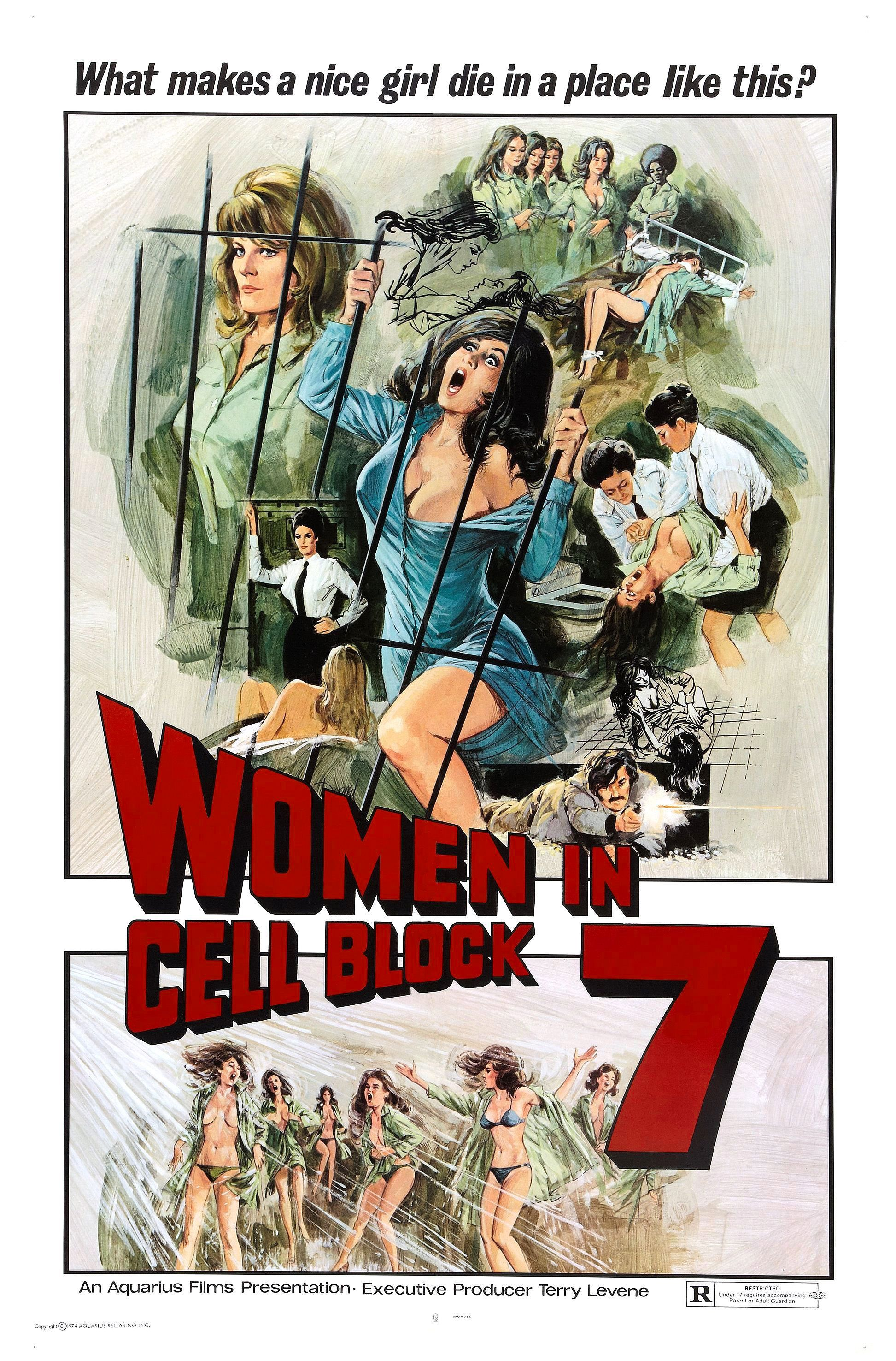 """""""Women in Cell Block 7"""" movie poster, 1973. PLOT: A woman goes behind ..."""