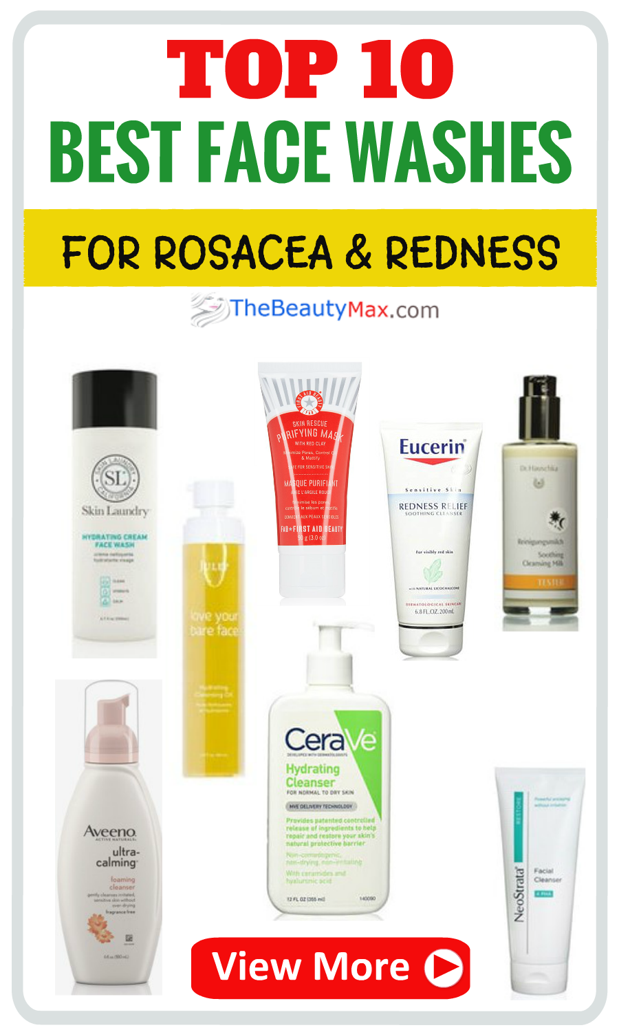 The Best Face Washes For Rosacea Or Redness Best Face Products Best Face Wash Face Wash