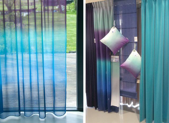 ombre gordijnen blauw curtains wwwonlinegordijnenshopnl