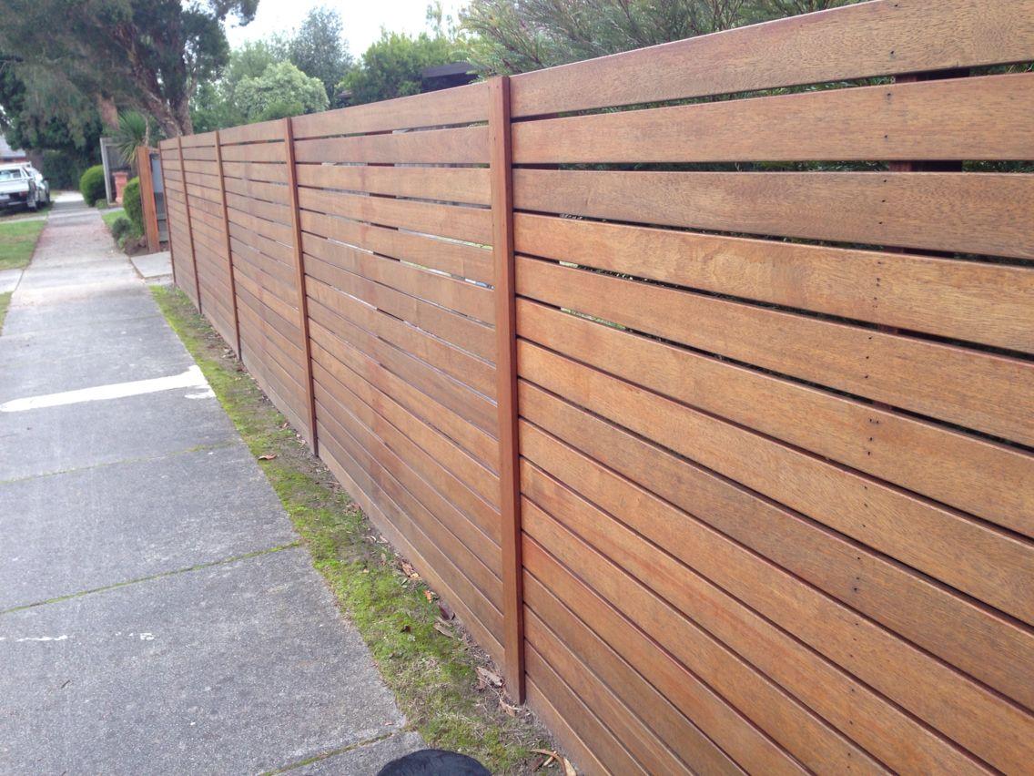Simple Modern Fence Slat Edge Covered Modern Fence Fence Slats Fence Design