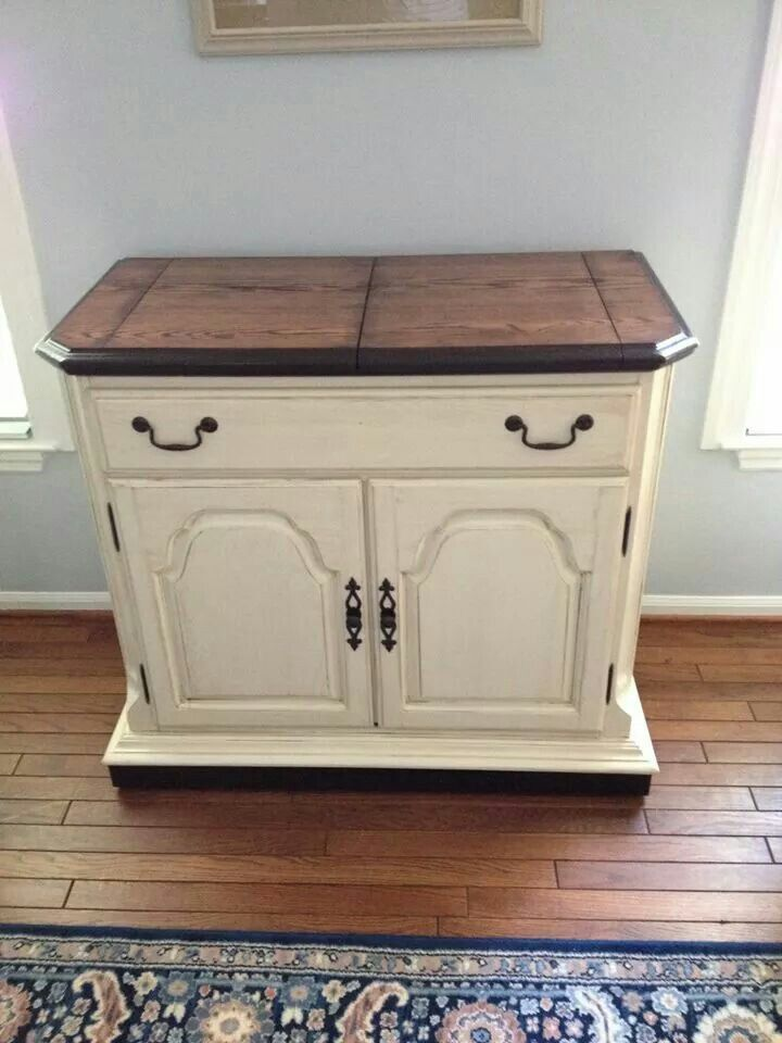 After With General Finishes Antique White Glazed With Van