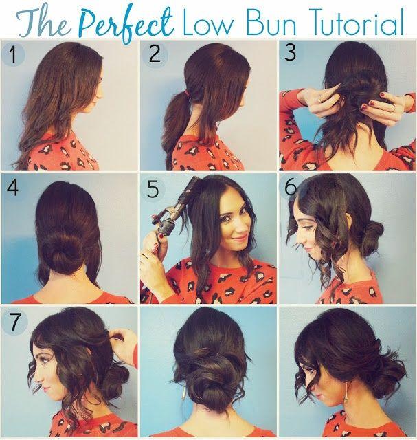 Romantic Low Bun Hairstyle Tutorial Low Buns Bun Hairstyle And - Hairstyle bun tutorials