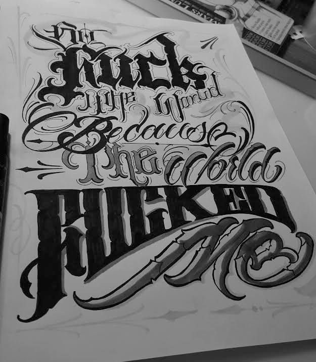 Chronic Ink Tattoo Toronto Tattoo Custom Lettering