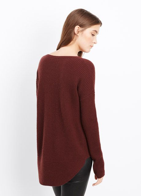 Vince color block cashmere sweater dress