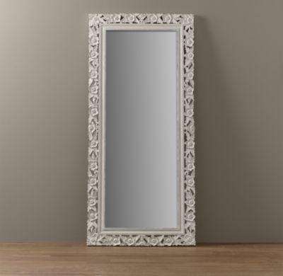 white full length mirror. Vintage Hand-Carved Full Length Mirror | Mirrors Restoration Hardware Baby \u0026 Child White I