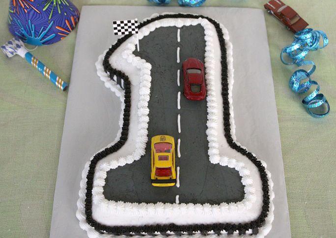 Fabulous Race Car First Birthday Cake Recipe Creative Birthday Cakes Birthday Cards Printable Trancafe Filternl