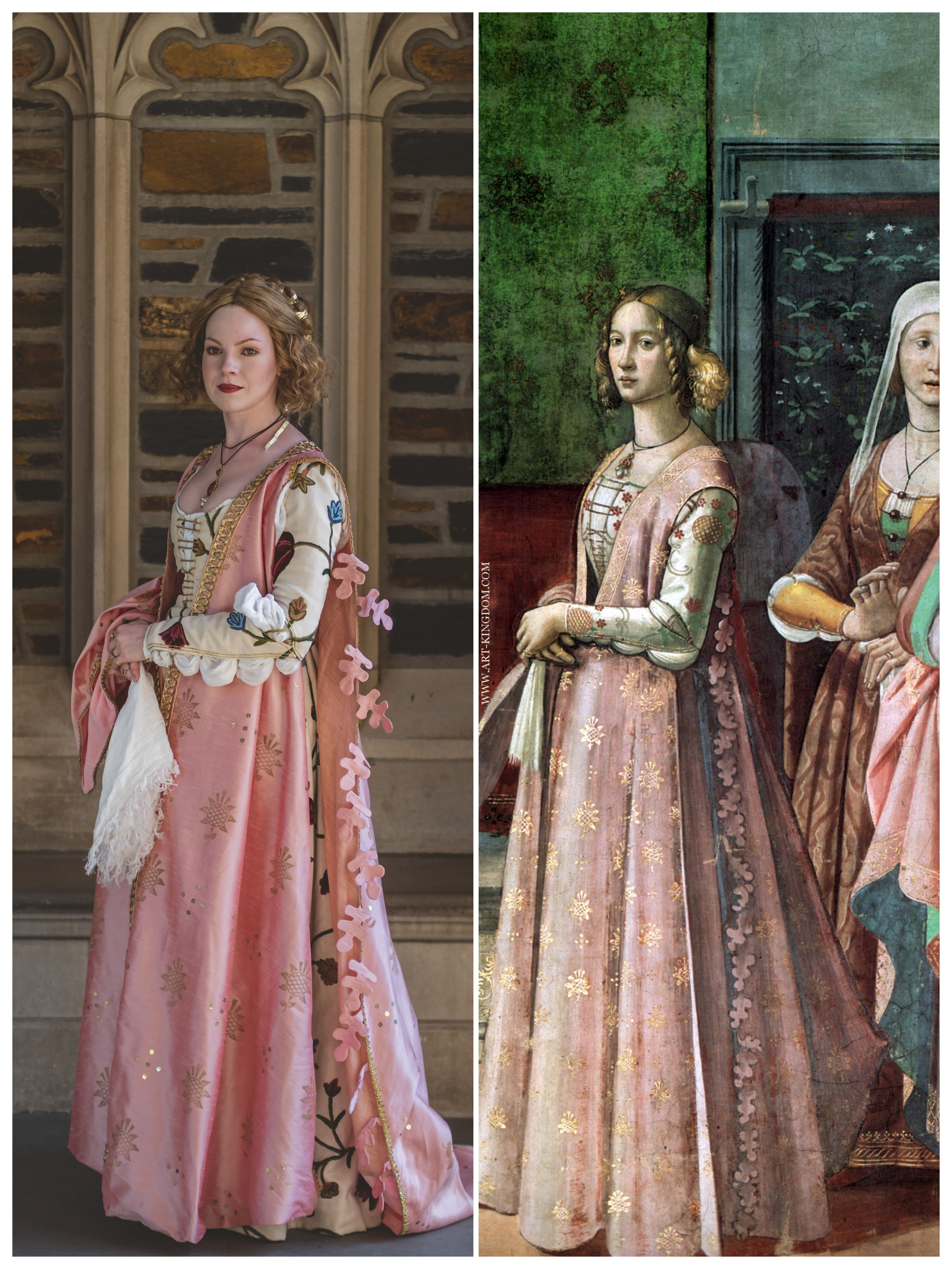 I Recreated A 15th Century Gown From A Fresco In Italy Sewing Crafts Handmade Quilting Italian Renaissance Dress 15th Century Fashion Renaissance Fashion