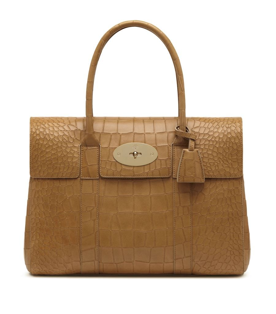 Mulberry Croc Embossed Bayswater Tote | Harrods