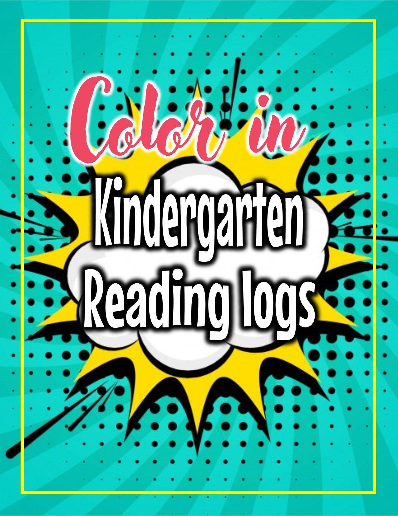 Read And Color Reading Logs Kindergarten Pre K