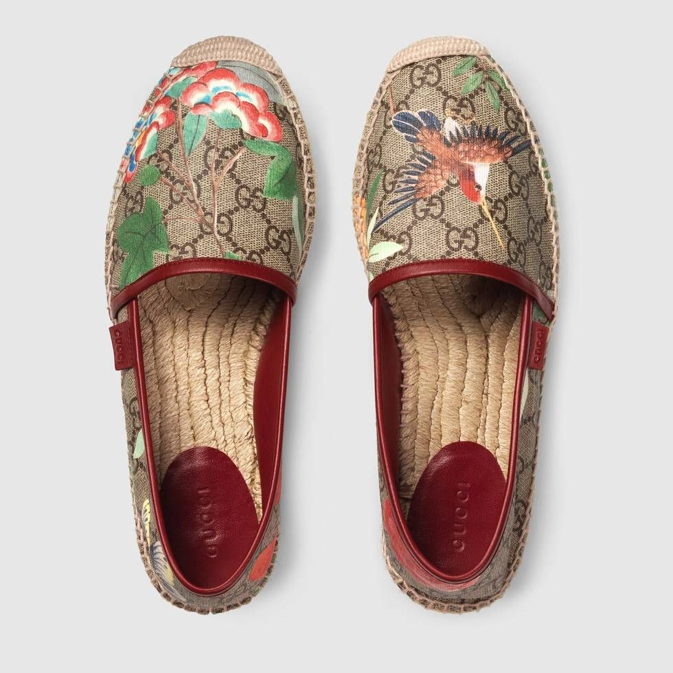 9f891d3b2 Shop the Women's Gucci Tian espadrille by Gucci. A platform espadrille in  our GG Supreme Tian print linen. Our new Gucci Tian print features a  contemporary ...