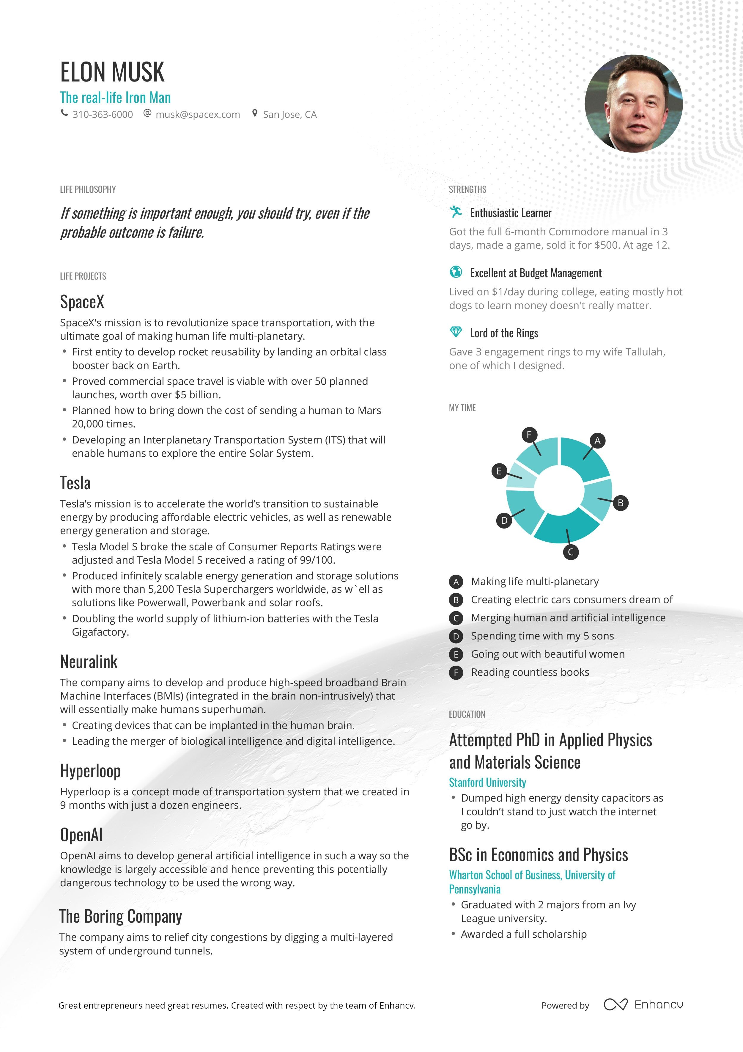 resume templates for ceo free