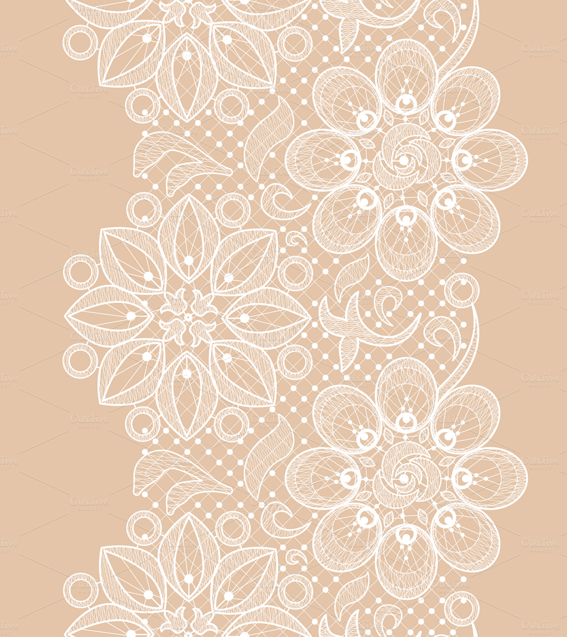 Seamless lace patterns by Macrovector on Creative Market ...