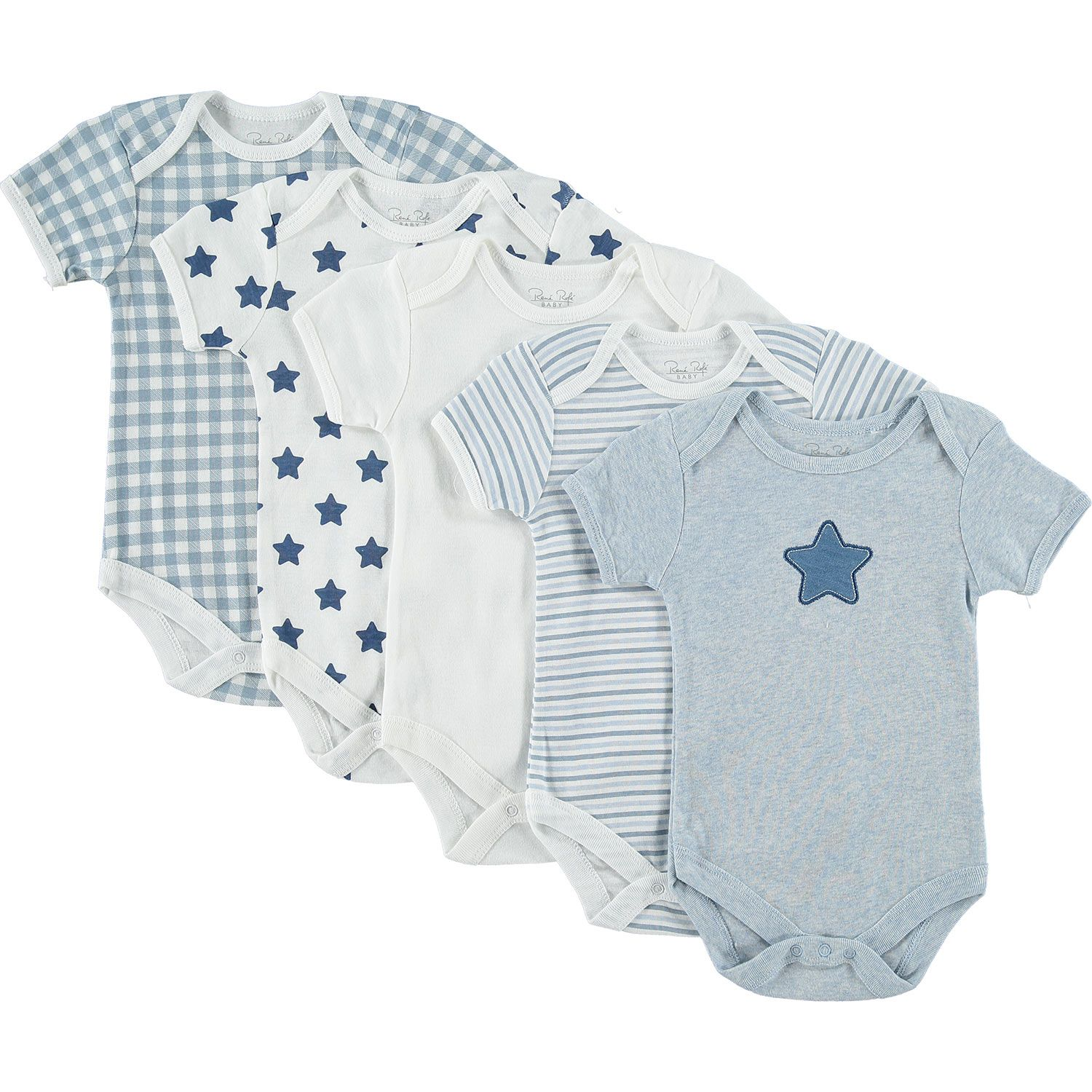 "Rene Rofe"" Five Pack Baby Grows TK Maxx"