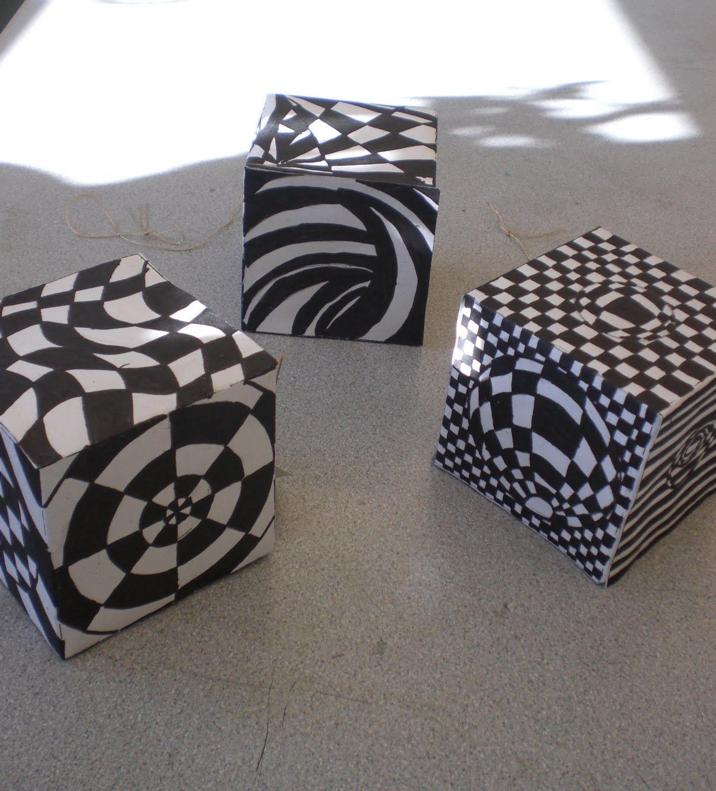 6 7 8 Op Art Boxes