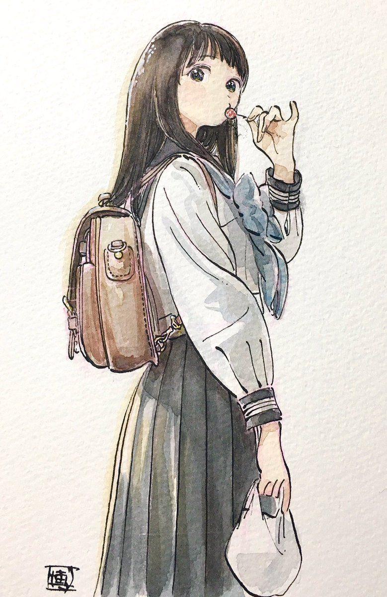 watercolor watercolour anime draw watercolor drawings anime