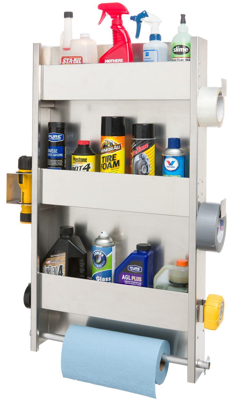 Aluminum Shed Organization