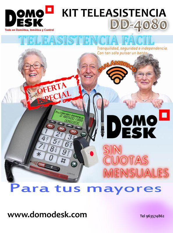Teleasistencia Fácil http://www.domodesk.com/kit-teleasistencia-telefonico-con-pulsera-colgante-teleasistencia